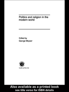 Ebook in inglese Politics and Religion in the Modern World