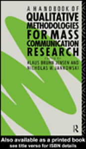 Ebook in inglese A Handbook of Qualitative Methodologies for Mass Communication Research