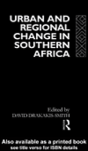 Ebook in inglese Urban and Regional Change in Southern Africa