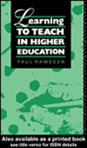 Ebook in inglese Learning to Teach in Higher Education Ramsden, Paul