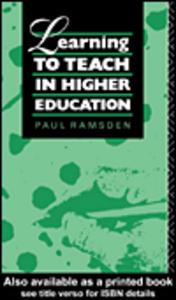 Ebook in inglese Learning to Teach in Higher Education Ramsden, Paul