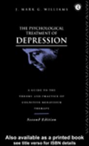 Foto Cover di The Psychological Treatment of Depression, Ebook inglese di J. Mark G. Williams, edito da