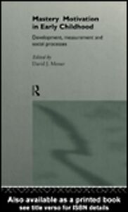 Foto Cover di Mastery Motivation, Ebook inglese di David Messer, edito da