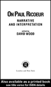 Foto Cover di On Paul Ricoeur, Ebook inglese di David Wood, edito da