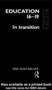 Ebook in inglese Education 16-19 MacFarlane, Eric