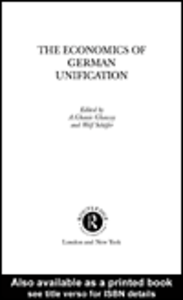 Ebook in inglese The Economics of German Unification
