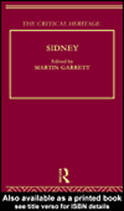 Ebook in inglese Sidney: The Critical Heritage