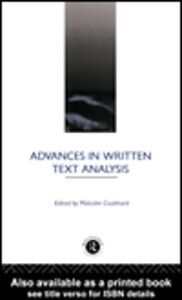 Ebook in inglese Advances in Written Text Analysis
