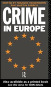Ebook in inglese Crime in Europe