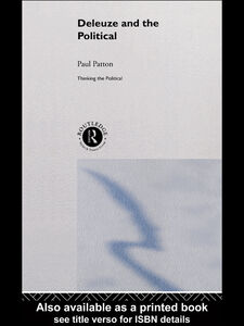 Ebook in inglese Deleuze and the Political Patton, Paul