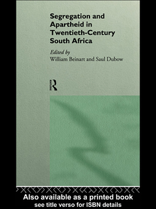 Ebook in inglese Segregation and Apartheid in Twentieth Century South Africa