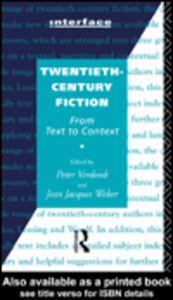 Ebook in inglese Twentieth-Century Fiction Verdonk, Peter , Weber, Jean Jacques