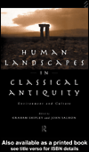 Ebook in inglese Human Landscapes in Classical Antiquity