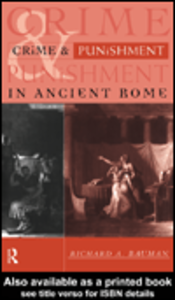 Ebook in inglese Crime and Punishment in Ancient Rome Bauman, Richard A.