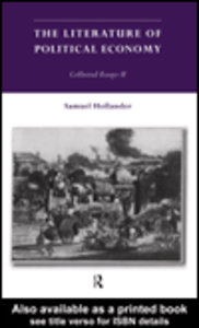 Ebook in inglese The Literature of Political Economy Hollander, Samuel
