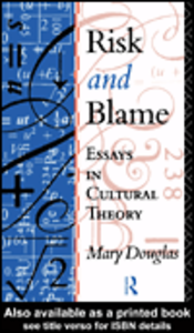 Ebook in inglese Risk and Blame Douglas, Mary