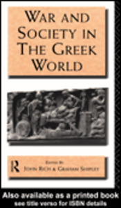 Ebook in inglese War and Society in the Greek World