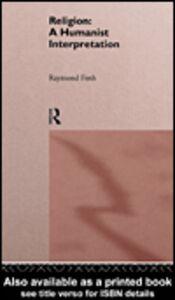 Foto Cover di Religion, Ebook inglese di Raymond Firth, edito da
