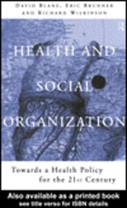 Ebook in inglese Health and Social Organization