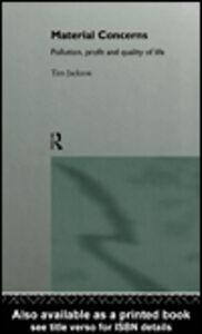 Foto Cover di Material Concerns, Ebook inglese di Tim Jackson, edito da
