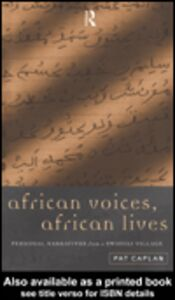 Ebook in inglese African Voices, African Lives Caplan, Pat