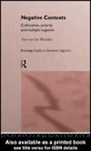 Ebook in inglese Negative Contexts van der Wouden, Ton
