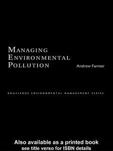 Foto Cover di Managing Environmental Pollution, Ebook inglese di Andrew Farmer, edito da