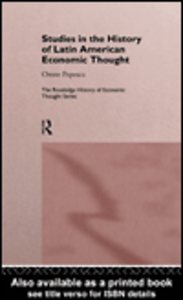 Ebook in inglese Studies in the History of Latin American Economic Thought Popescu, Oreste
