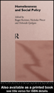 Ebook in inglese Homelessness and Social Policy