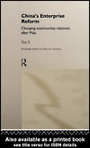 Ebook in inglese China's Enterprise Reform Ji, You