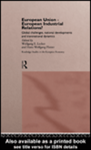 Ebook in inglese European Union - European Industrial Relations?