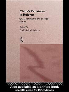 Foto Cover di China's Provinces in Reform, Ebook inglese di David S. G. Goodman, edito da