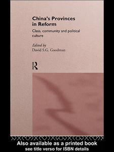 Ebook in inglese China's Provinces in Reform