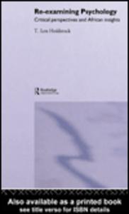 Ebook in inglese Re-examining Psychology Holdstock, Len T.