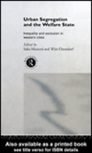 Ebook in inglese Urban Segregation and the Welfare State