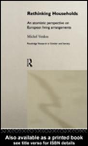 Ebook in inglese Rethinking Households Verdon, Michel
