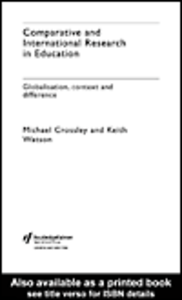 Ebook in inglese Comparative and International Research In Education Crossley, Michael , Watson, Keith