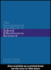 The International Handbook of School Effectiveness Research