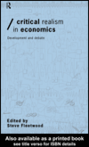 Ebook in inglese Critical Realism in Economics