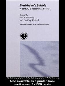 Ebook in inglese Durkheim's Suicide