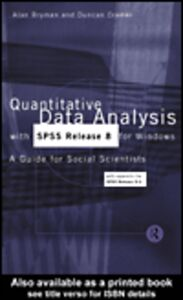 Ebook in inglese Quantitative Data Analysis with SPSS Release 8 for Windows Bryman, Alan , Cramer, Duncan
