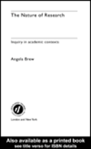Ebook in inglese The Nature of Research Brew, Angela