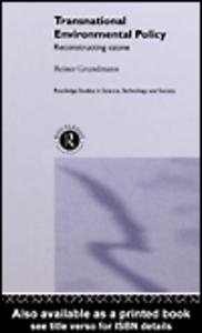 Ebook in inglese Transnational Environmental Policy Grundmann, Reiner
