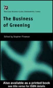 Ebook in inglese The Business of Greening