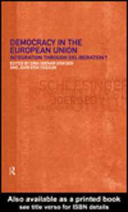 Ebook in inglese Democracy in the European Union