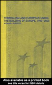Federalism and the European Union
