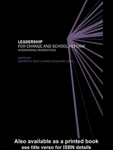 Ebook in inglese Leadership for Change and School Reform