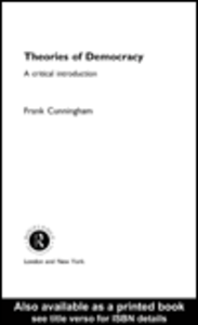 Ebook in inglese Theories of Democracy Cunningham, Frank