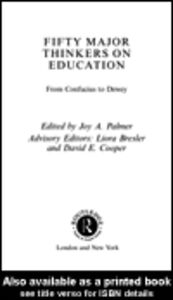 Ebook in inglese Fifty Major Thinkers on Education Palmer, Joy A.