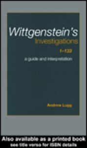 Ebook in inglese Wittgenstein's Investigations 1-133 Lugg, Andrew